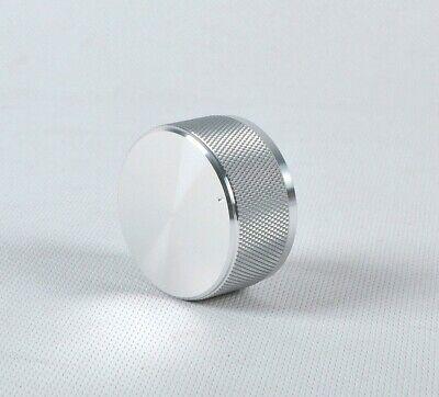 1 Pcs Solid Aluminum Knurled Silver 4422 Amplifier Volume Potentiometer Knob