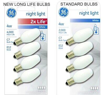 GE Night Light BULBs 4 watt White bulb e12 candelabra base c