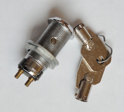 Key Switch Lock Momentary Spring Return Tubular Garage Safe Alarm Slot Crc25