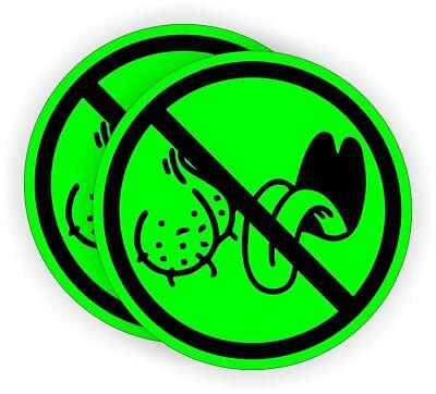 2 No Bag Lickers Funny Hard Hat Stickers Motorcycle Welding Helmet Decals Labels