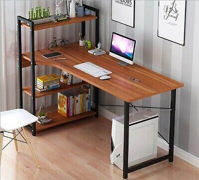 Computer Desk W 4 Shelves Modern Style Computer Table