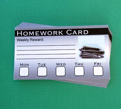 Weekly Homework Card Reward Card Read Write Math English Science School Chart](Homework Chart)
