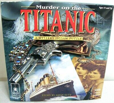 University Games Murder on the Titanic Mystery Jigsaw Puzzle NEW DAMAGED BOX