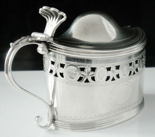 Antique Sterling Silver Mustard Pot, London 1799, Peter, Ann & William Bateman