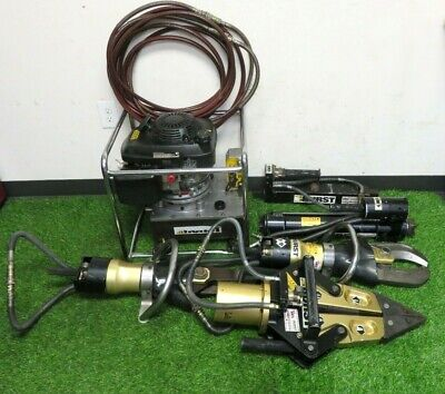 Hurst Jaws Of Life Hydraulic Rescue System Extraction Set Portable Gas Powered