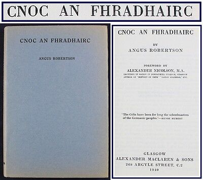 1940*SCOTTISH GAELIC POEMS*CNOC AN FHRADHAIRC*ANGUS ROBERTSON*1ST EDITION HBDJ for sale  Shipping to Ireland