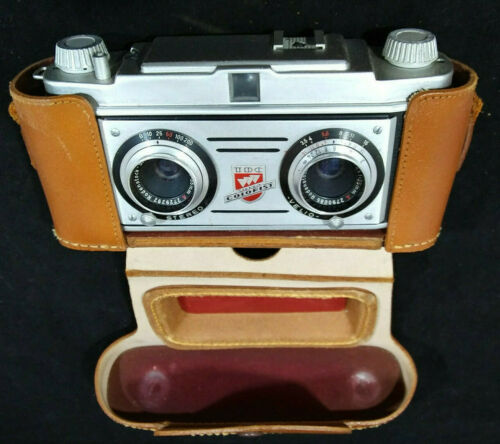 TDC Stereo Colorist 35mm 3D Film Camera + LEATHER CASE Realist Format. #105314