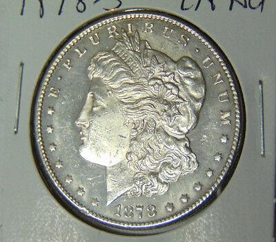 Choice AU 1878-S Morgan Silver Dollar Proof-Like Cameo Contrast (52118)