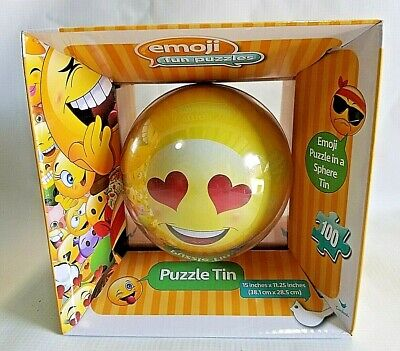 100 Piece Toy - NEW 100 piece Emoji Puzzle Tin Entertainment Game Toy by Cardinal Industries