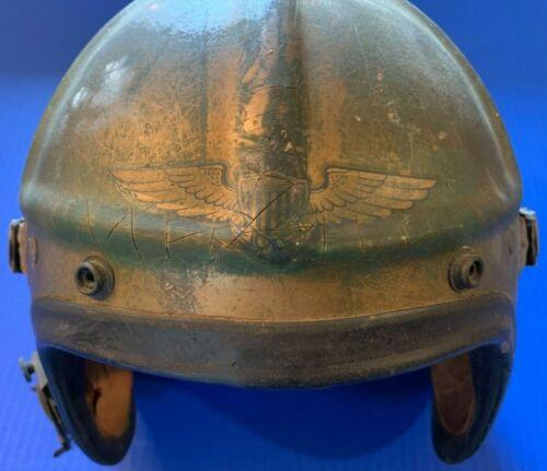 Rare Korean War U.S. Navy Named & Painted Gentexite Fighter Pilot Helmet w/Wings