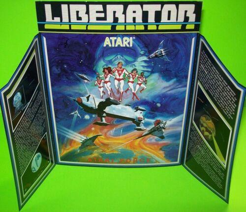 Liberator Arcade FLYER Atari Original 1982 Video Game Artwork Sheet Space Age