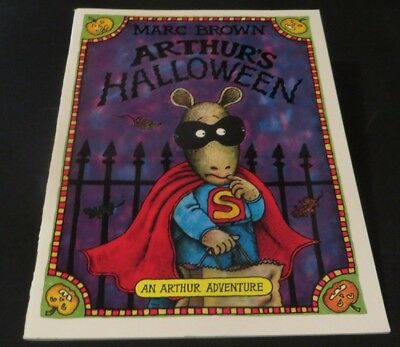 Arthur's Halloween AN ARTHUR ADVENTURE BOOK by Marc Brown FREE SHIPPING - Arthur's Halloween Book