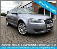 2008 (08) AUDI A3 2.0 TDi DSG S-TRONIC SE FULL LEATHER ALLOYS ETC