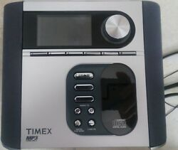 LN Timex T617S Dual Alarm Clock Radio Nature Sounds Snooze CD MP3 Player Portabl