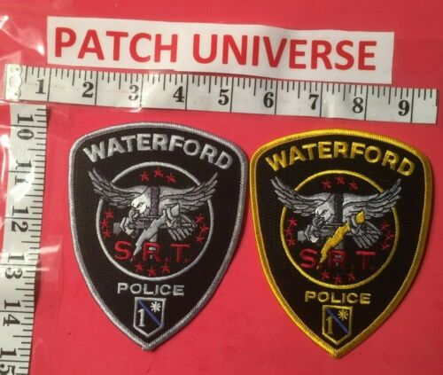 LOT OF 2 DIFFERENT WATERFORD MI SRT POLICE  SHOULDER PATCHES  B040