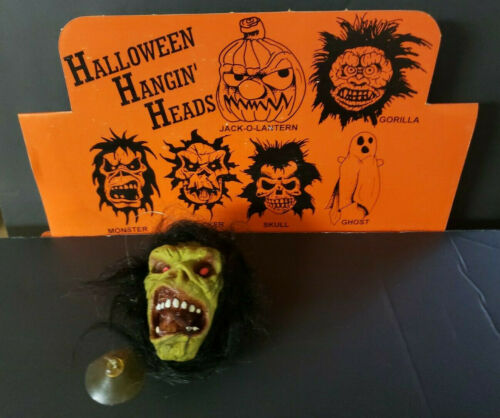 Vintage Halloween Creepy Head Suction Cup MonsterNew Old Stock