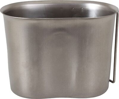 Stainless Steel Military Supply 1 Quart Campers Camping Canteen Cup