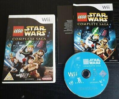 Lego Star Wars The Complete Saga Nintendo Wii / U Video Game Manual PAL