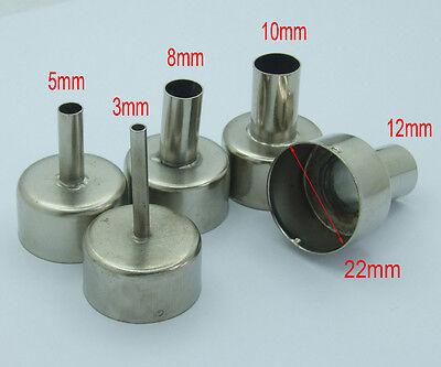 5 PCS nozzle for 850 852D 898 858 Soldering station Hot Air Stations Gun Nozzle