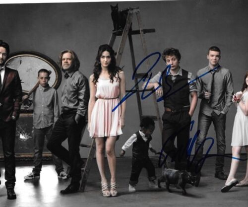 * JEREMY ALLEN WHITE & EMMA KENNEY * signed 8x10 photo * SHAMELESS * 7