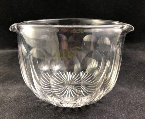 🔷 19th Century Georgian Era Flint Glass Cut Star Rayed Base WINE RINSER