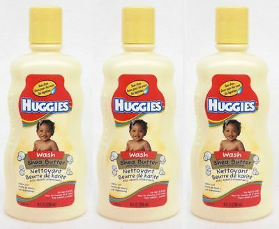 3 Huggies Shea Butter With Moisturizers Baby Wash 9 oz Huggies Baby Wash