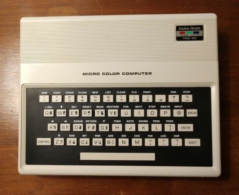 Tandy Radioshack MC-10 Micro Color Computer w/ Power Supply *TESTED, WORKING*