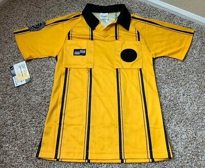 0f58733ebe6 Official Sports US SOCCER REFEREE JERSEY UNIFORM Yellow size Youth Large