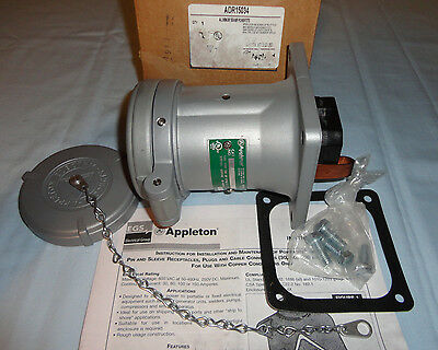 Appleton Pinsleeve Adr15034 Receptacle 150a 3w4p Powertite New