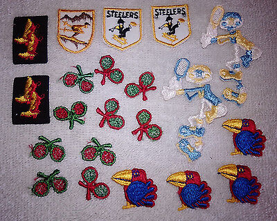 Cowboy Boots For Boys (21 Small Applique Lot for Dolls Babies Boys Steelers Cowboy Boots Tennis)