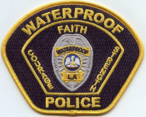 WATERPROOF LOUISIANA Faith Courage Strength POLICE PATCH