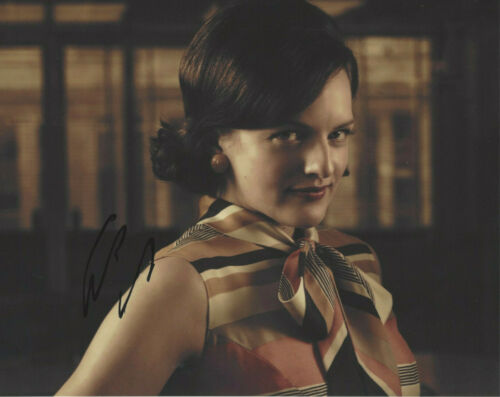 SEXY ACTRESS ELISABETH MOSS HAND SIGNED AUTHENTIC MAD MEN PEGGY 8X10 PHOTO COA