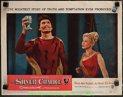 SILVER CHALICE LOBBY CARD Movie Poster Card #5 JACK PALANCE VIRGINIA MAYO 1954