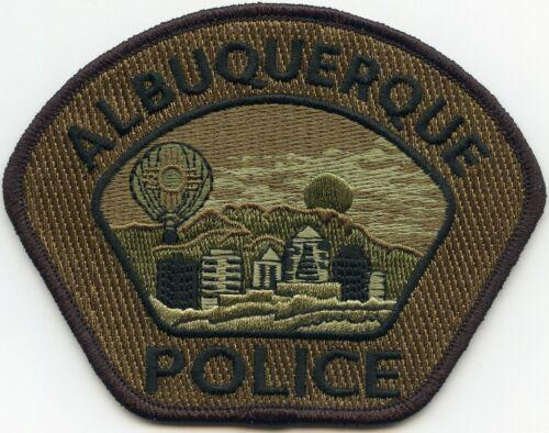 ALBUQUERQUE NEW MEXICO NM Black Border Green Background POLICE PATCH