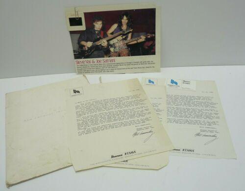 Steve Vai One of A Kind 1989 Stolen Guitar Papers, Photo & Slide Jem Prototype
