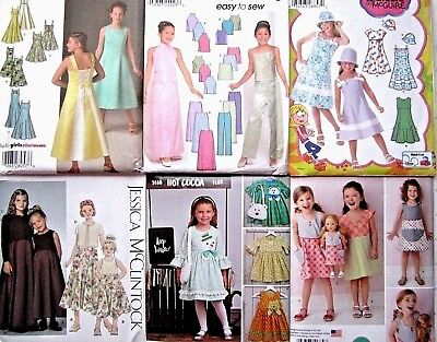 Simplicity Sewing Pattern Child Girl's Special Occasion Dress Top Skirt You Pick