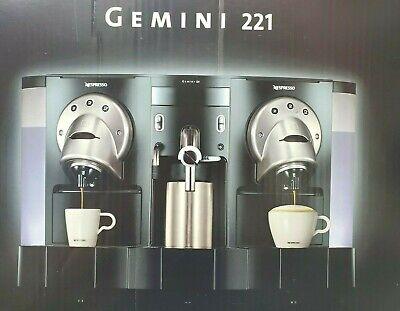 Nespresso Gemini 221 Pro Espresso Machine Free And Fast Shipping