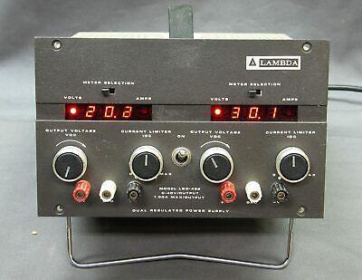 Lambda Lqd-422 Dual Regulated Dc Power Supply 0-40v 1a Refurb Tested Good Vgc
