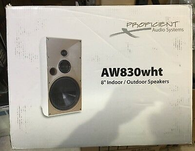 Proficient Aw830wht 8 Inch Stereo Speakers White   Pair