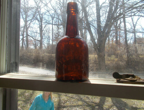 "BOYLE & McGLINN PHILADA 8""ODD SIZE SQUAT ALE OR WHISKEY BOTTLE 1880s SHINY NICE"