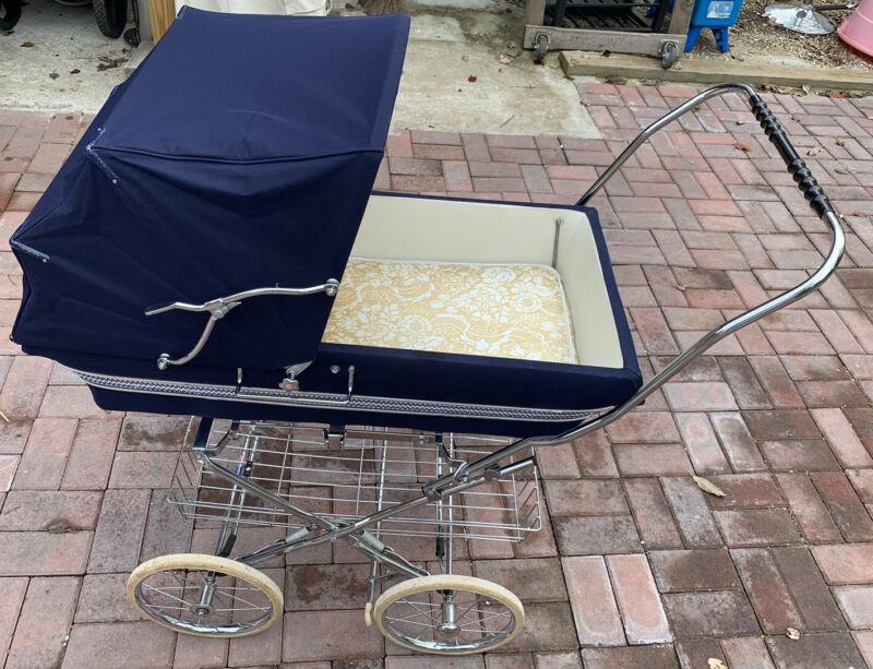 Vintage English Bilt-Rite Baby Carriage -Pram-Blue (LOCATION PICK UP ONLY)