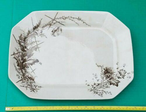 Antique Burgess & Leigh Middleport Pottery POPPY Serving Platter c1890