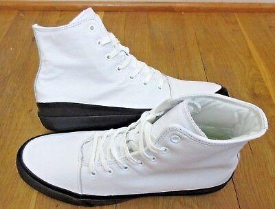 Converse Mens AS Quantum Hi Leather Shoes White Black Volt Size 11 153647C New