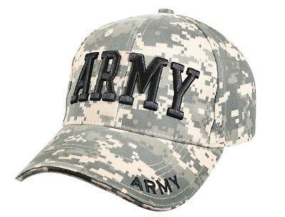 (US Army Hat ACU Digital Camo Ballcap Baseball Cap Camouflage Rothco 9488)