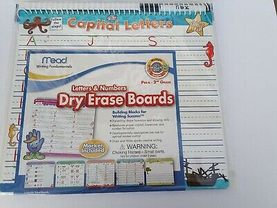 Mead Letters And Numbers Dry Erase Boards 12-12 X 11-14-inches 54216