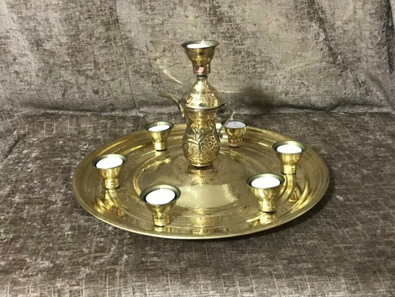 Candle tray belly dance candelabra, Shamadan ,Gold, Quick shipping from USA