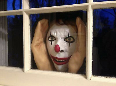Scary Peeper Creeper - Clown Halloween Decoration - real looking - Window Decora (Scary Halloween Looks)