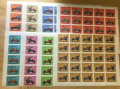 SPECIAL LOT Maldives 1970 304-11 - Early Automobiles - 25 Sets of 8v - IMPERF
