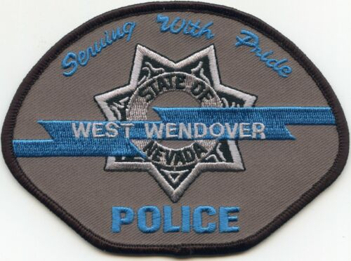 WEST WENDOVER NEVADA NV Serving With Pride POLICE PATCH