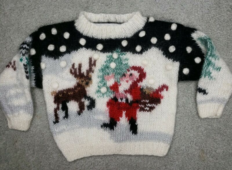 Vintage Chadwicks Of Boston Toddler S Samantha Taylor Mohair Christmas Sweater